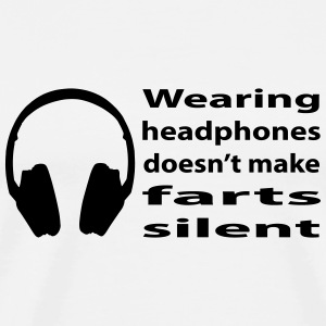 headphones and farts T-Shirts - Men's Premium T-Shirt
