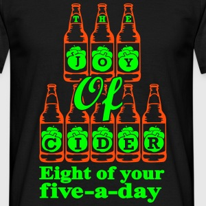 The Joy of Cider Eight of your five a day T-Shirts - Men's T-Shirt