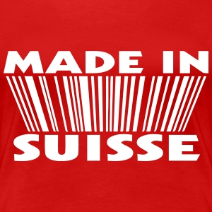 Made in suisse 3D code Tee shirts - T-shirt Premium Femme
