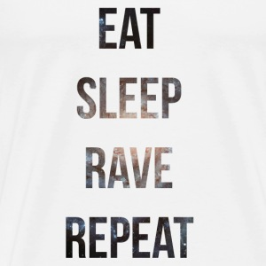 eat sleep rave repeat stars Tee shirts - T-shirt Premium Homme