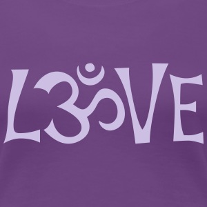 OM LOVE - Frauen Premium T-Shirt