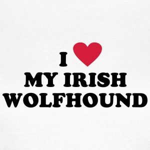 I Love My Irish Wolfhound Hunde T-Shirt T-Shirts - Women's T-Shirt
