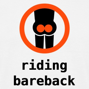 riding bareback - Mannen T-shirt