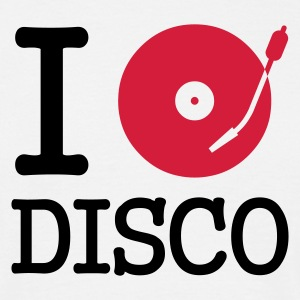 I dj / play / listen to disco - T-shirt herr