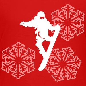 slopestyle+snowflake T-shirts - Teenager premium T-shirt