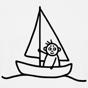 Sailing man - Sailboat T-Shirts - Men's T-Shirt