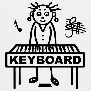 Keyboard player woman Shirts - Teenage Premium T-Shirt