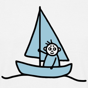 Sailing man - Sailboat - V2 T-Shirts - Men's T-Shirt
