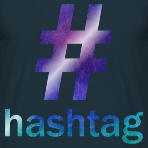 Navy #hashtag T-Shirts - Men's T-Shirt