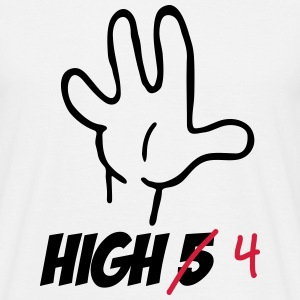 high five :-) T-shirts - Mannen T-shirt