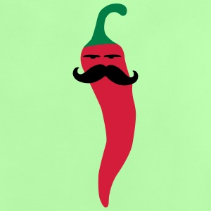 hot chili moustache gemüse vegan mexican T-Shirts - Baby T-Shirt