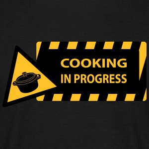 cooking in progress T-shirts - Herre-T-shirt