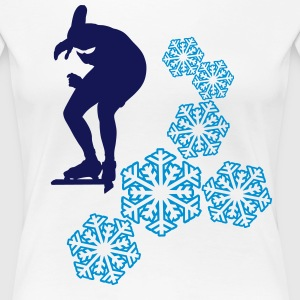 ice-skating T-shirts - Vrouwen Premium T-shirt