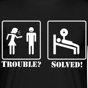 Trouble? Solved! T-Shirts - Männer T-Shirt