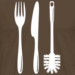 Cutlery with a toilet brush  T-Shirts - Men's Premium T-Shirt
