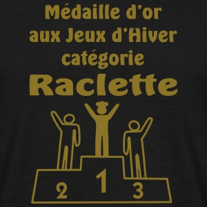 médaille or raclette (motif or) - T-shirt Homme