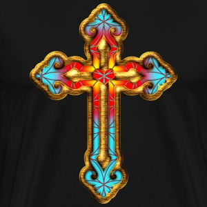 Cross Christian Church Jesus God Religious Belief T-Shirts - Men's Premium T-Shirt