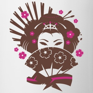 A geisha with a fan  Bottles & Mugs - Mug