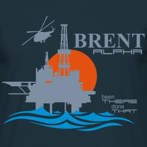 Brent Alpha Oil Rig Platform - Men's T-Shirt
