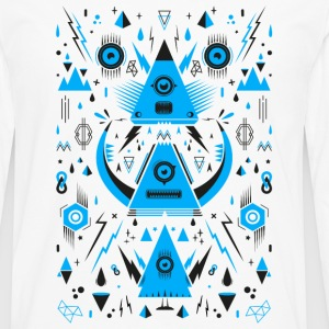 Abstract Triangle Transformation Tee shirts manches longues - T-shirt manches longues Premium Homme