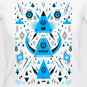 Abstract Triangle Transformation Tee shirts - T-shirt Bio Femme