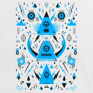 Abstract Triangle Transformation Tee shirts - T-shirt contraste Femme