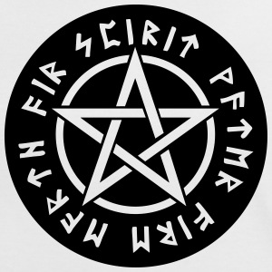 Pentagram star element rune paganism witchcraft T-Shirts - Women's Ringer T-Shirt