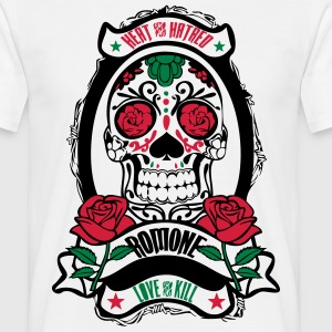 Tshirt skull rose mirroir - T-shirt Homme