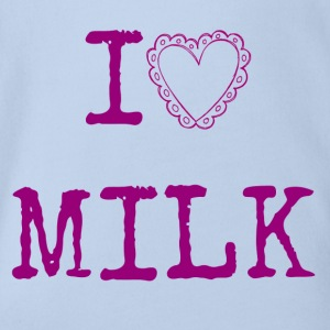 I love MILK T-Shirts - Baby Bio-Kurzarm-Body