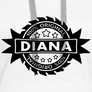 DIANA star original 1c Sweat-shirts - Sweat-shirt à capuche Premium pour femmes