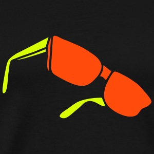 sunglasses dark glasses eighties porn cool sexy T-Shirts - Men's Premium T-Shirt