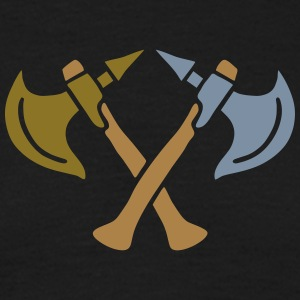brave warrior gladiator axe tomahawk knights fight T-Shirts - Männer T-Shirt