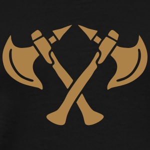 brave warrior gladiator axe tomahawk knights fight T-shirts - Premium-T-shirt herr
