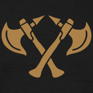 brave warrior gladiator axe tomahawk knights fight Tee shirts - T-shirt Homme