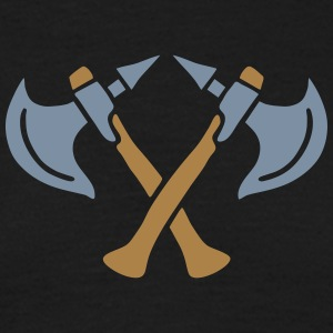 brave warrior gladiator axe tomahawk knights fight T-shirts - T-shirt herr