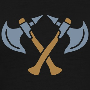 brave warrior gladiator axe tomahawk knights fight T-Shirts - Men's Premium T-Shirt