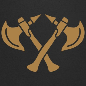 brave warrior gladiator axe tomahawk knights fight T-Shirts - Men's V-Neck T-Shirt