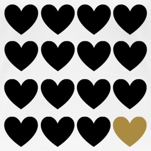 Black Hearts One Gold T-shirts - Vrouwen Premium T-shirt