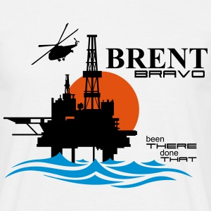 Brent Bravo Oil Rig Platform - Men's T-Shirt