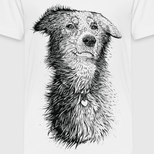 White Love Dog Shirts - Kids' Premium T-Shirt