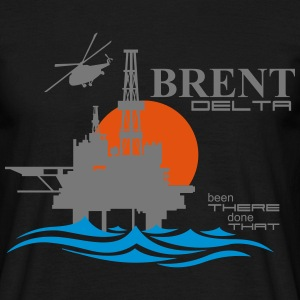 Brent Delta Oil Rig Platform - Men's T-Shirt