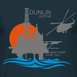 Dunlin Alpha Oil Rig Platform - Men's T-Shirt