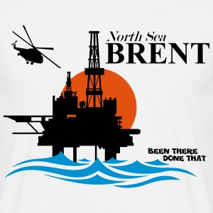 Brent Field Oil Rig Platform - Men's T-Shirt