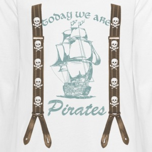 We are Pirates, Pirat, Schiff, Totenkopf, Hosentr - Teenager Premium Langarmshirt