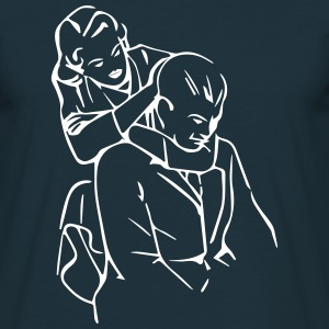 Retro rear naked choke - Men's T-Shirt