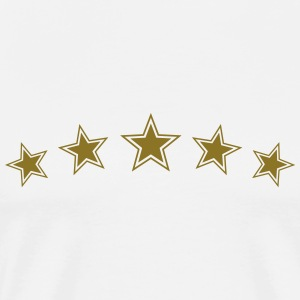 5 Star Gold Gift Hero Best Team Award Badge Winner T-Shirts - Men's Premium T-Shirt