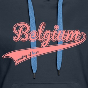 belgium country of beer Sweat-shirts - Sweat-shirt à capuche Premium pour femmes