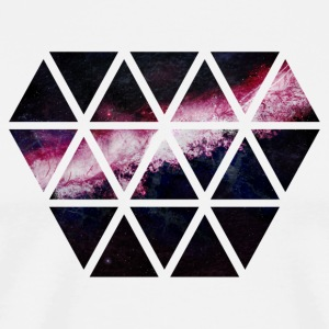 diamond of triangles diamante de triángulos Camisetas - Camiseta premium hombre