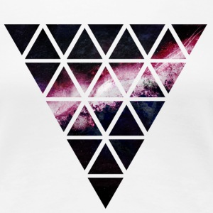 triangle of triangles galaxy driehoek van driehoeken melkweg T-shirts - Vrouwen Premium T-shirt