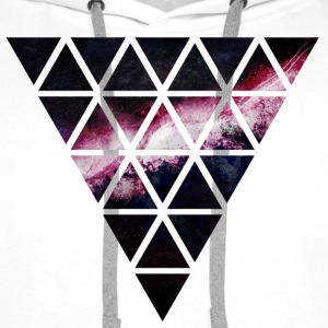 triangle of triangles galaxy triangle de galaxie de triangles Sweat-shirts - Sweat-shirt à capuche Premium pour hommes
